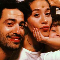 Mauro, Jimena y Momo.