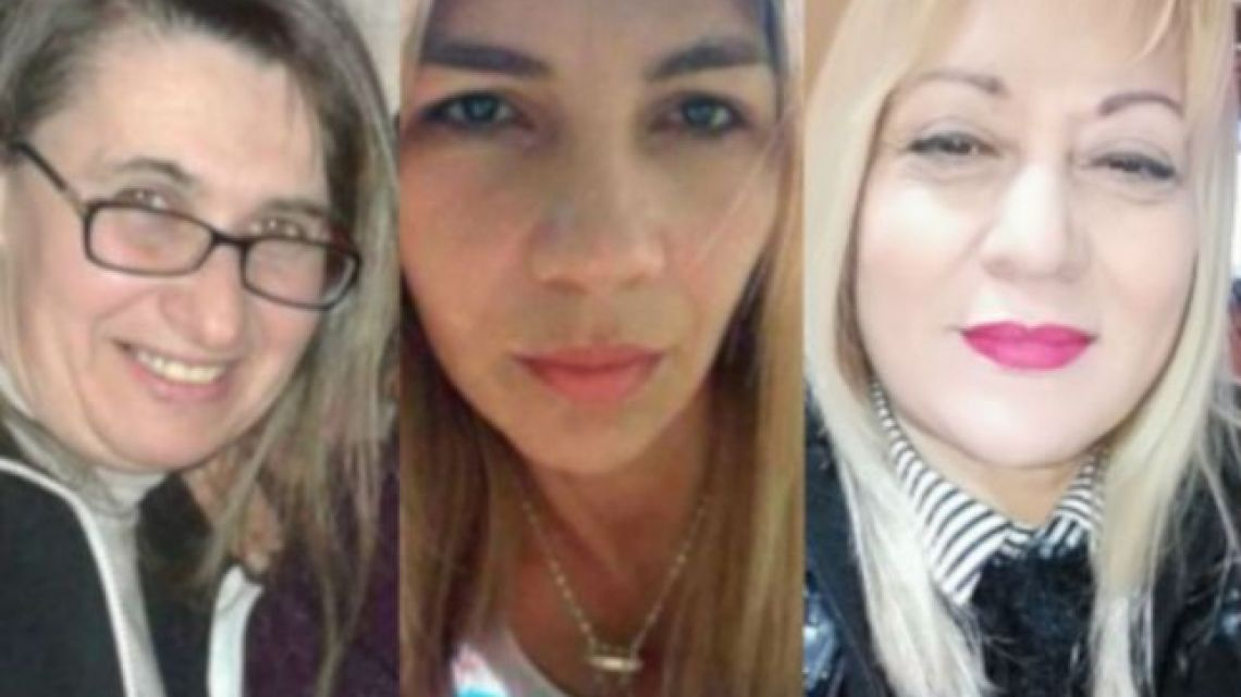 Patricia Yameta, Liliana Gonzalez and Irma Rodriguez and Carmen Lujan, three of Argentina's 13 victims of femicide in March.