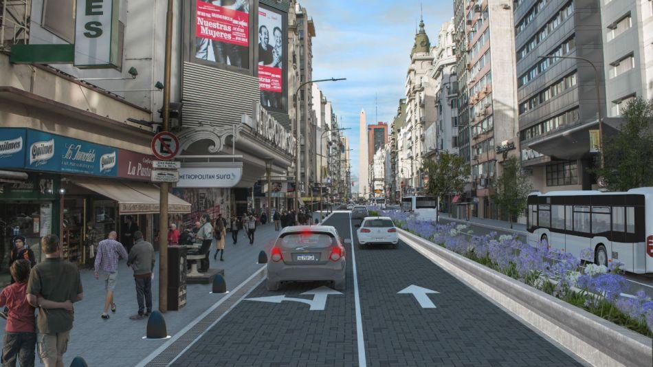 La emblemática avenida Corrientes recuperará todo su esplendor con esta inauguración.