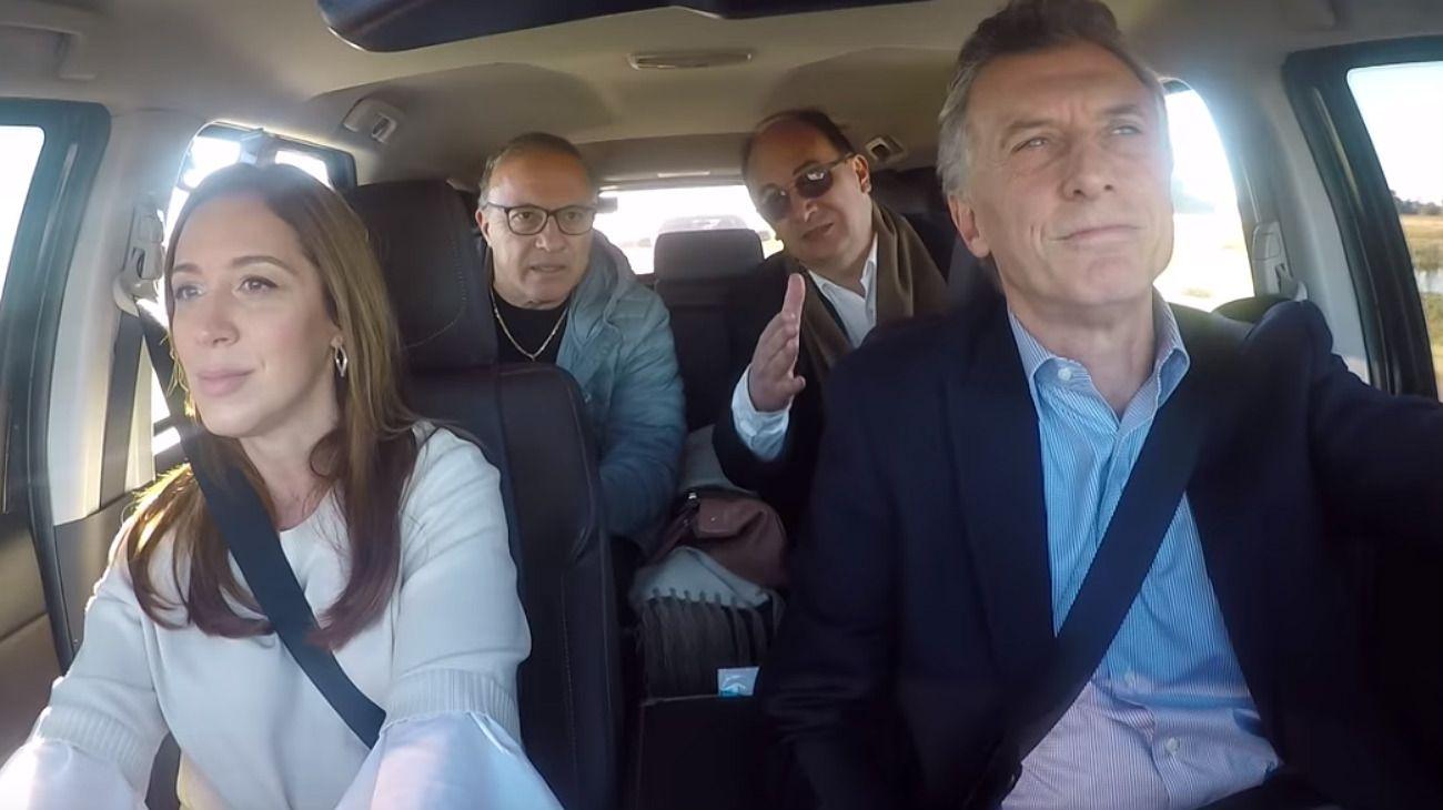 """Macri hizo campaña """"estilo Massa"""" por la ruta 205 y el video generó revuelo en redes"""