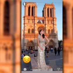 La tristeza de Pampita por el incendio de Notre Dame