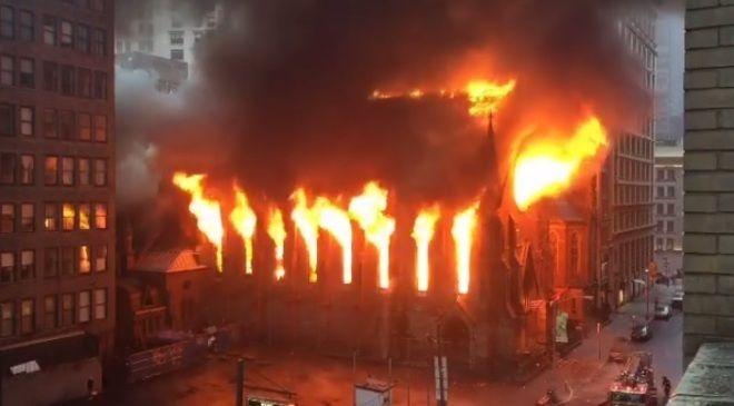 Incendios en catedrales del mundo.