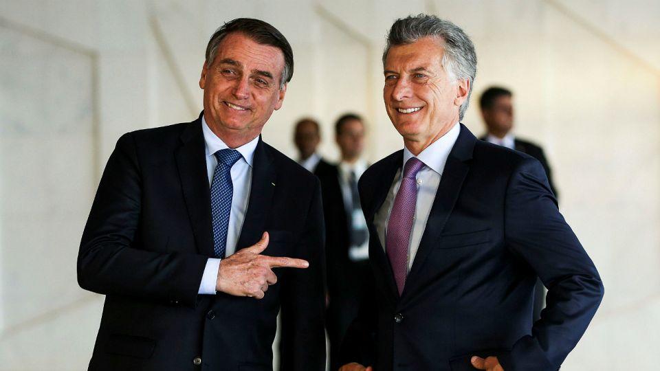 Jair Bolsonaro junto a Mauricio Macri. La popularidad de ambos en la redes sufrió un cambio.
