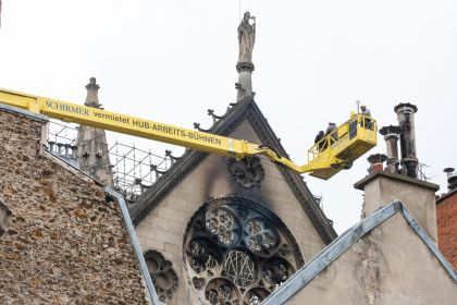 Notre Dame Cathedral's Stability Assessed After Fire Rips Through Monument