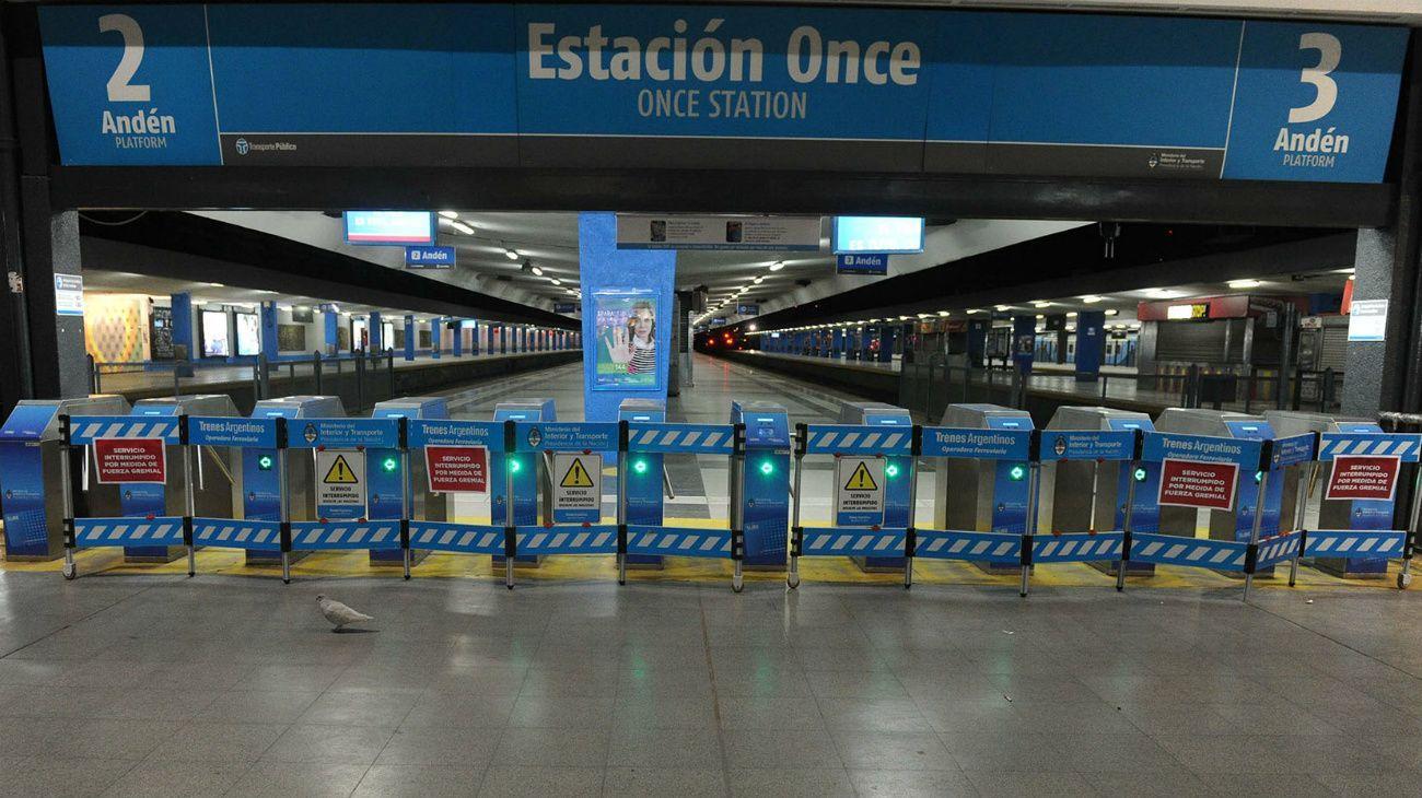 Estación de Once del Ferrocarril Sarmiento.