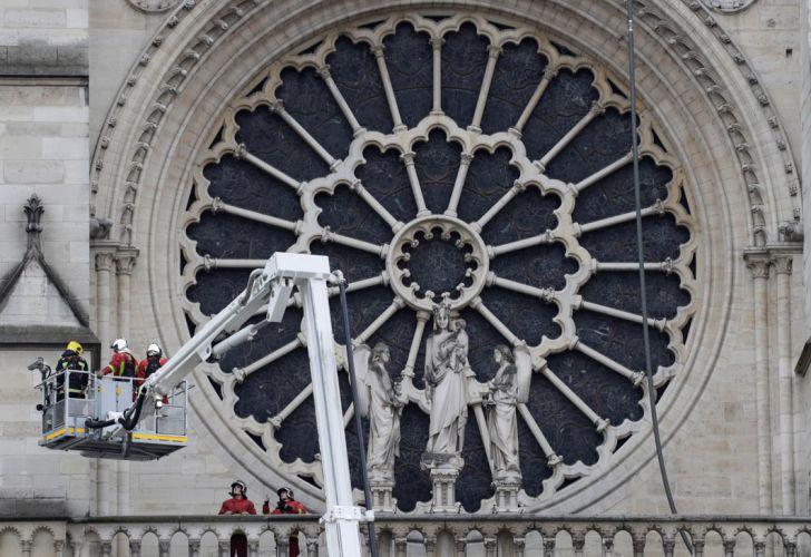 Así quedó la Catedral de Notre Dame