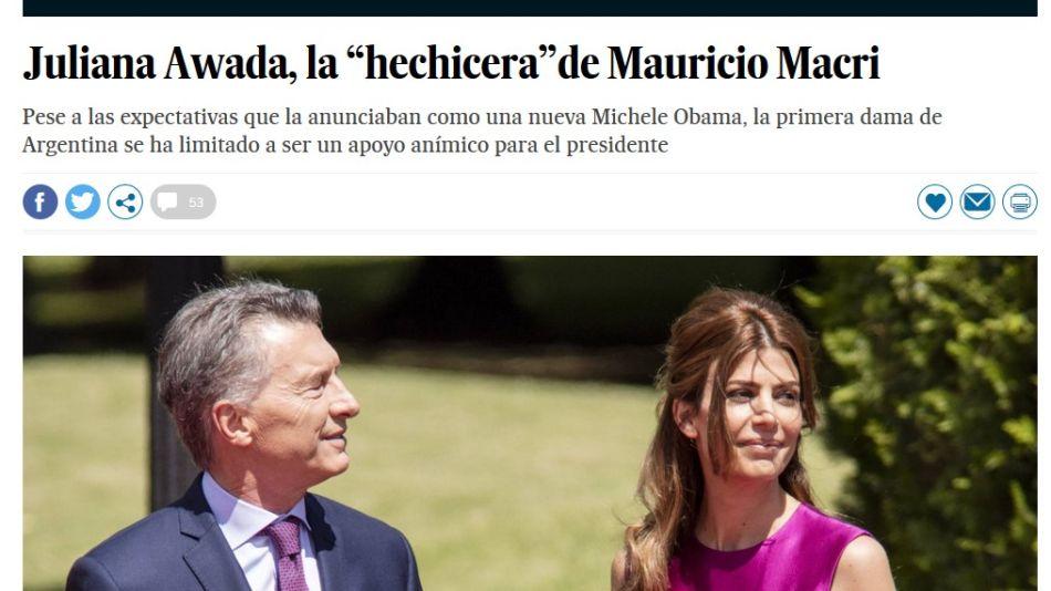 Awada, la Michelle Obama que no fue