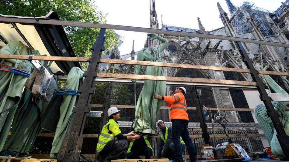 Concluyen las tareas de rescate en la catedral de Notre Dame