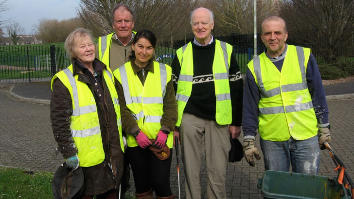 Rosanne Bostock (far left) and volunteers from the NGO she co-founded and has been working at for the last 13 years, OxClean. The charity aims to keep Oxford tidy.