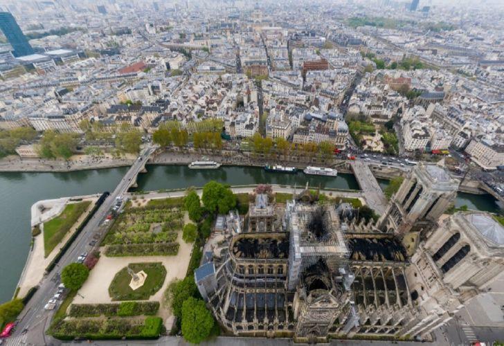Imágenes tipo gigapixel de las consecuencias por el incendio en Notre Dame.