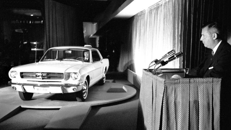 Presentación del Ford Mustang en el Salón del Automóvil de Nueva York