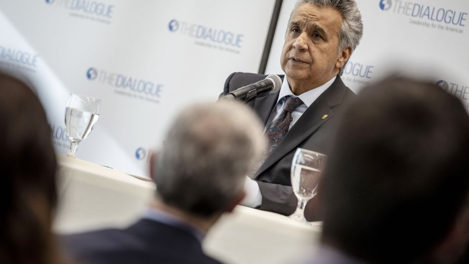 Ecuador President Lenin Moreno Speaks At Inter-American Dialogue