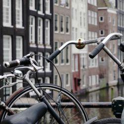 En Amsterdam las bicis prácticamente dominan las calles.