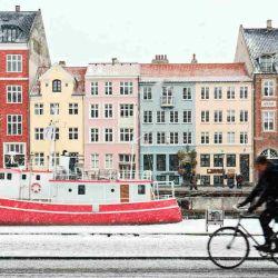 En Copenhague el 80% de los ciclistas utilizan la bicicleta aún en invierno.
