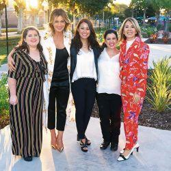 Jose Ramirez, Karina Mazzocco, Laura Russo, Constanza Orbaiz y Liliana Castaño, directora de Caras