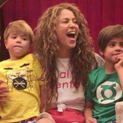 Shakira y sus hijos en Miami.