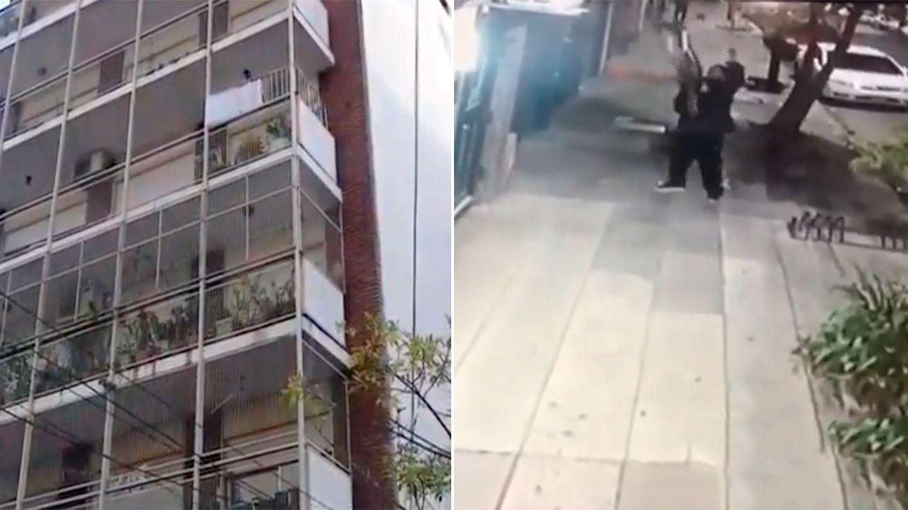 Hombre araña récord: trepó hasta un cuarto piso para robar una bicicleta