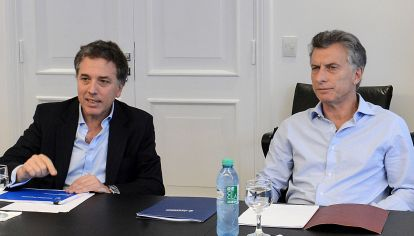El presidente Mauricio Macri y el ministro de Hacienda, Nicolás Dujovne.