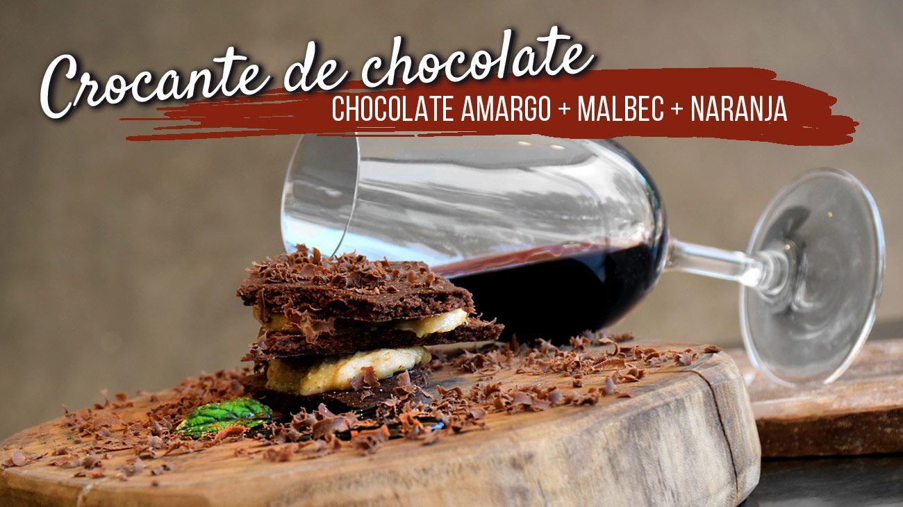Receta de Crocante de chocolate y malbec