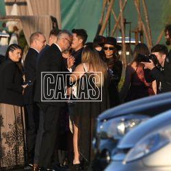 Jorge Rial llega a la ceremonia junto a su hija Morena y su nieto