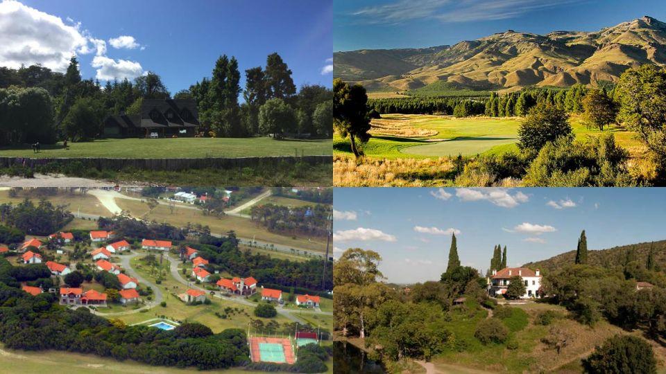 Cumelén (Villa La Angostura). Chapelco Golf & Resort. Chapadmalal. Potrerillo de Larreta (Alta Gracia).