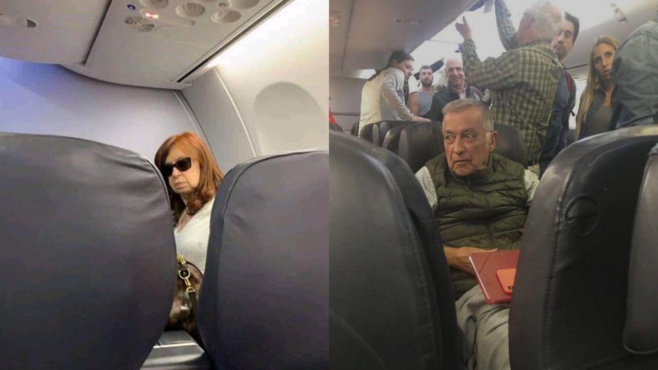 Acusan a un pasajero de hostigar a Cristina Kirchner durante su viaje a Cuba