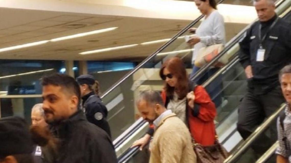 Cristina Fernández de Kirchner travels to Cuba (file)