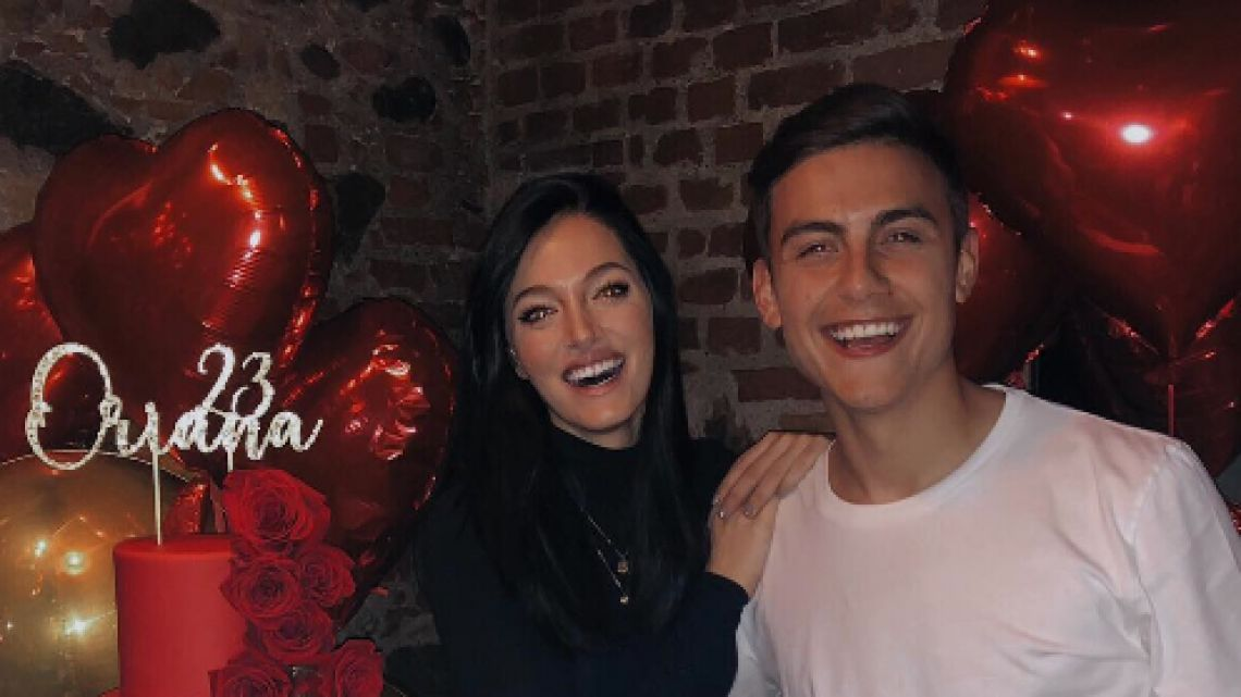 Dybala le organizó un cumpleaños sorpresa a Oriana Sabatini