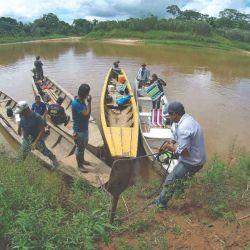 Botes rápidos en el río Madidi.