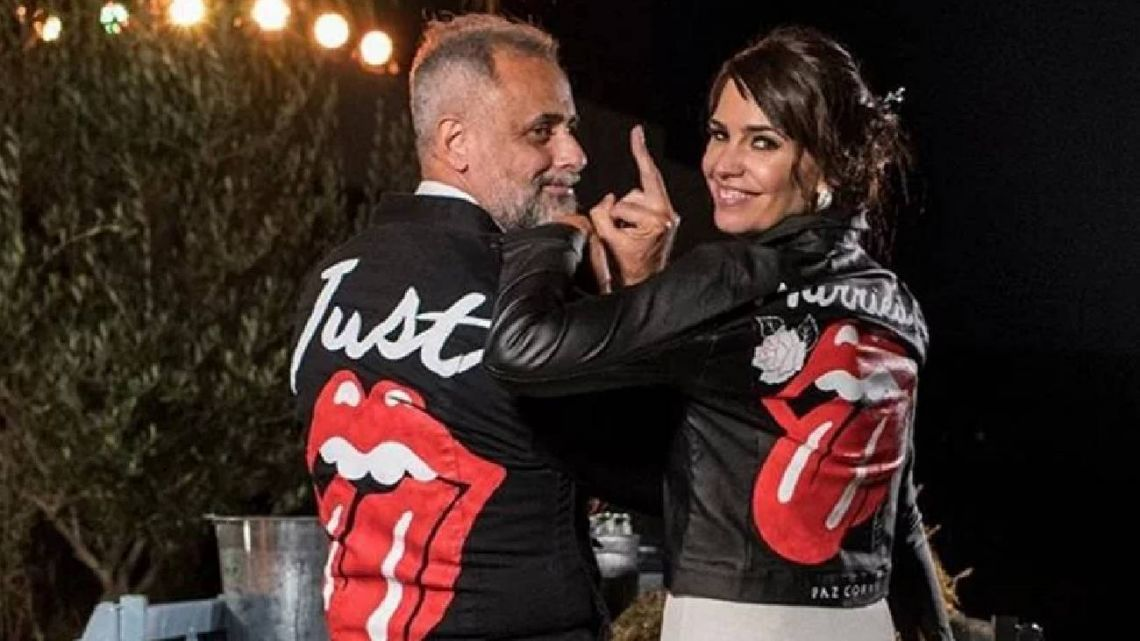 Jorge Rial y Romina Pereiro ya son marido y mujer.