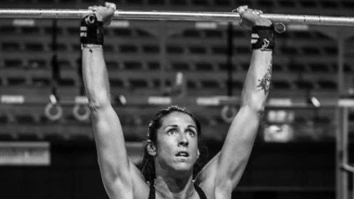 Valeria Repetto en su gimnasio de crossfit.