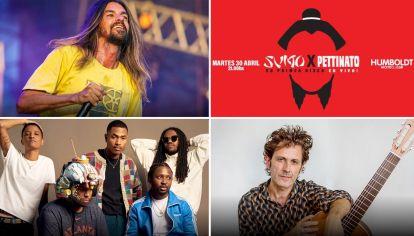 Los shows musicales que podés ver la última semana de abril