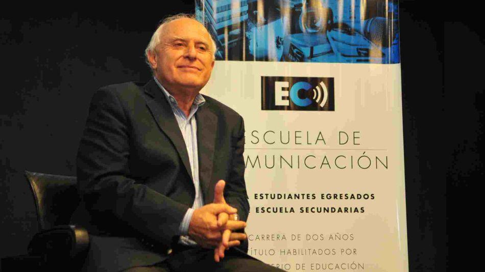 Miguel Lifschitz en la Escuela de Comunicación de Perfil.