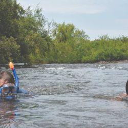 Snorkel en el Queguay.