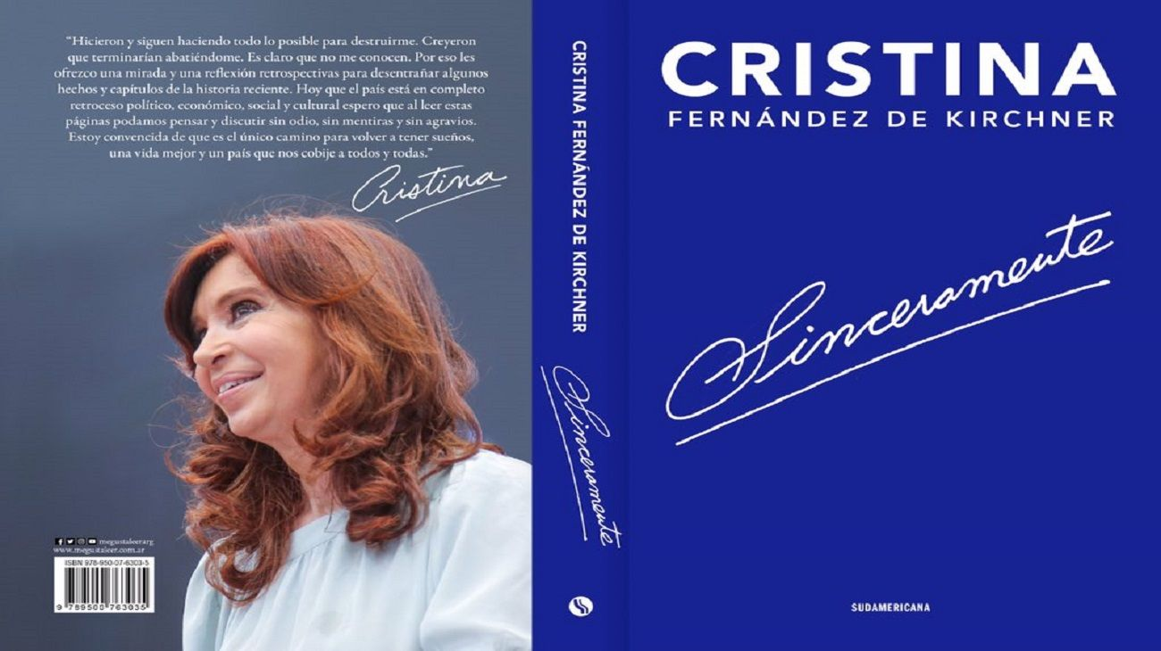 Bonadio embargó los derechos de autor del libro de Cristina Kirchner