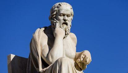 Sócrates en el origen de la filosofía.