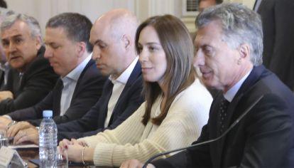 Mauricio Macri con gobernadores en Casa Rosada.