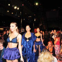 Vestidas con baby dolls, bodies, brasiers, ligas y corsets, las modelos cautivaron a todos los presentes en el salón.