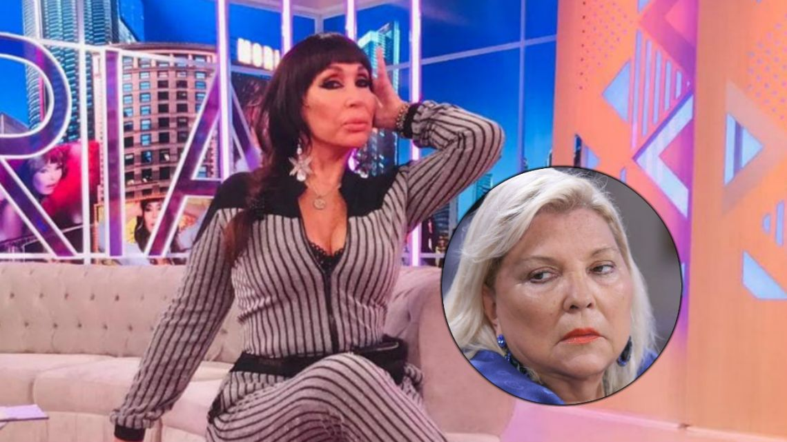 """La revelación de Moria Casán sobre Elisa Carrió: """"La vi suelta de ropas"""""""