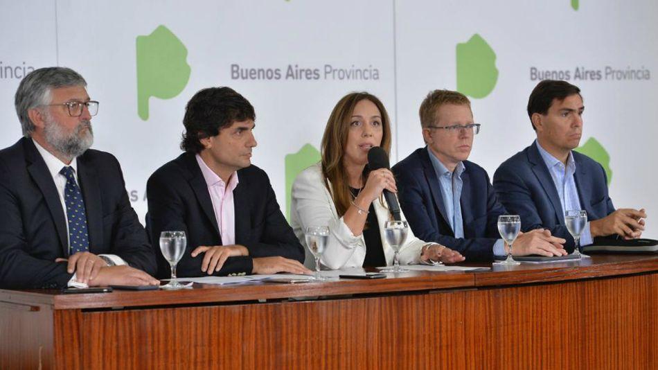 María Eugenia Vidal, durante la conferencia de prensa.