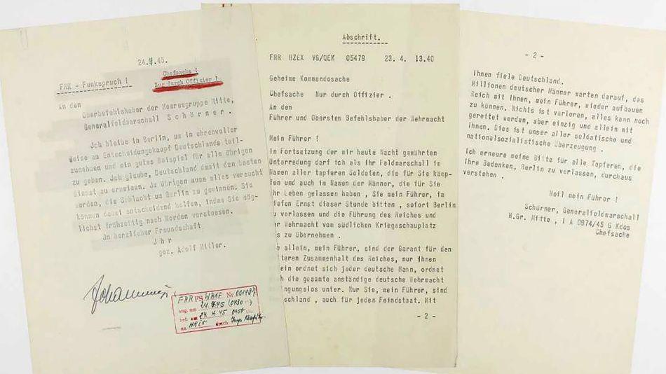 carta de suicidio de hitler