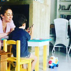 María Julia Oliván y su hijo Antonio