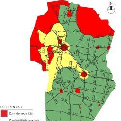 Zonas habilitadas para la caza mayor en Córdoba.
