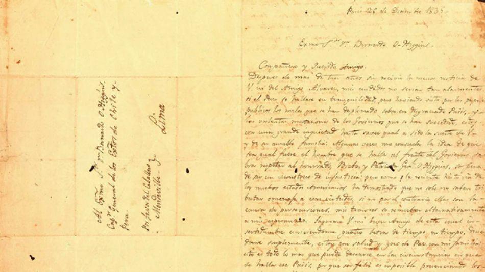carta de san martin a ohiggins