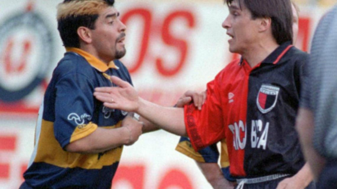 The infamous feud between Toresani (right) and Maradona.