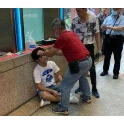 El supuesto joven al que golpearon en Hong Kong