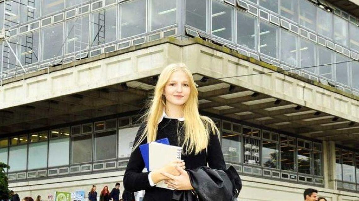 Former private university student María Lobianco.