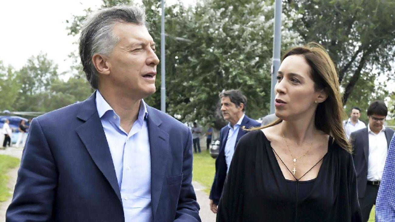 La gobernadora de Buenos Aires, María Eugenia Vidal, y el presidente, Mauricio Macri.