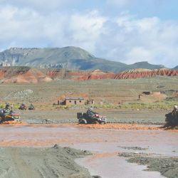 Expedición en ATV por el norte argentino, en la frontera jujeña con Bolivia.