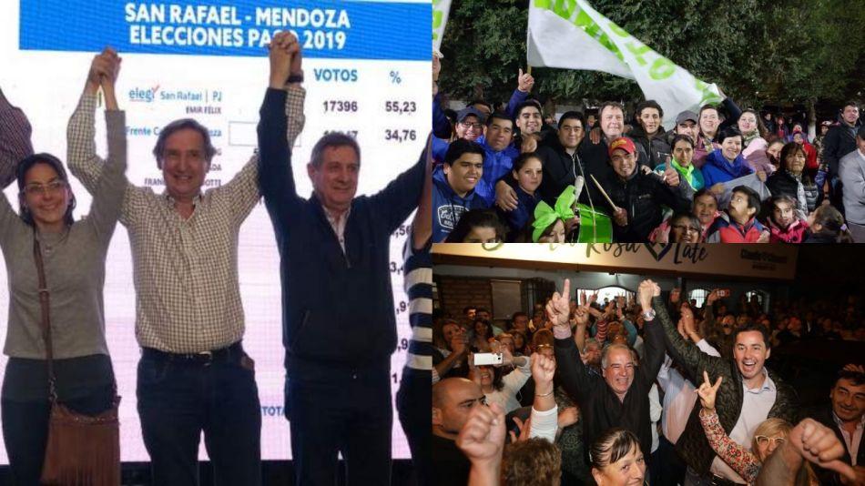 El peronismo pudo mantener su fuerza en cinco distritos que eligieron intendente en Córdoba y Mendoza.